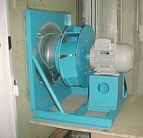 Ventilateur monté sur un banc d'essai du CETIAT