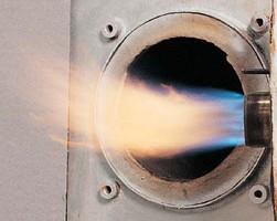 Essai d'un brûleur sur PTF du CETIAT