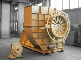 Exemple d'une technologie de ventilateur étudiée au CETIAT :  ventilateur centrifuge à réaction avec inclineur (Source : Ventilateur M18B 7N 1600 de FEVI International)