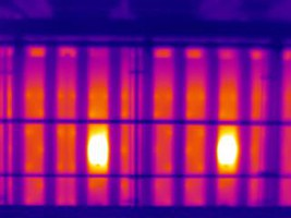 Image obtenue par caméra thermique infrarouge (CETIAT)