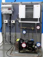 Détail d'un îlot de démonstration frigorifique utilisé en travaux pratiques par le CETIAT