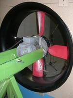 Montage sur plate-forme d'essai du CETIAT pour une étude sur le bruit des ventilateurs